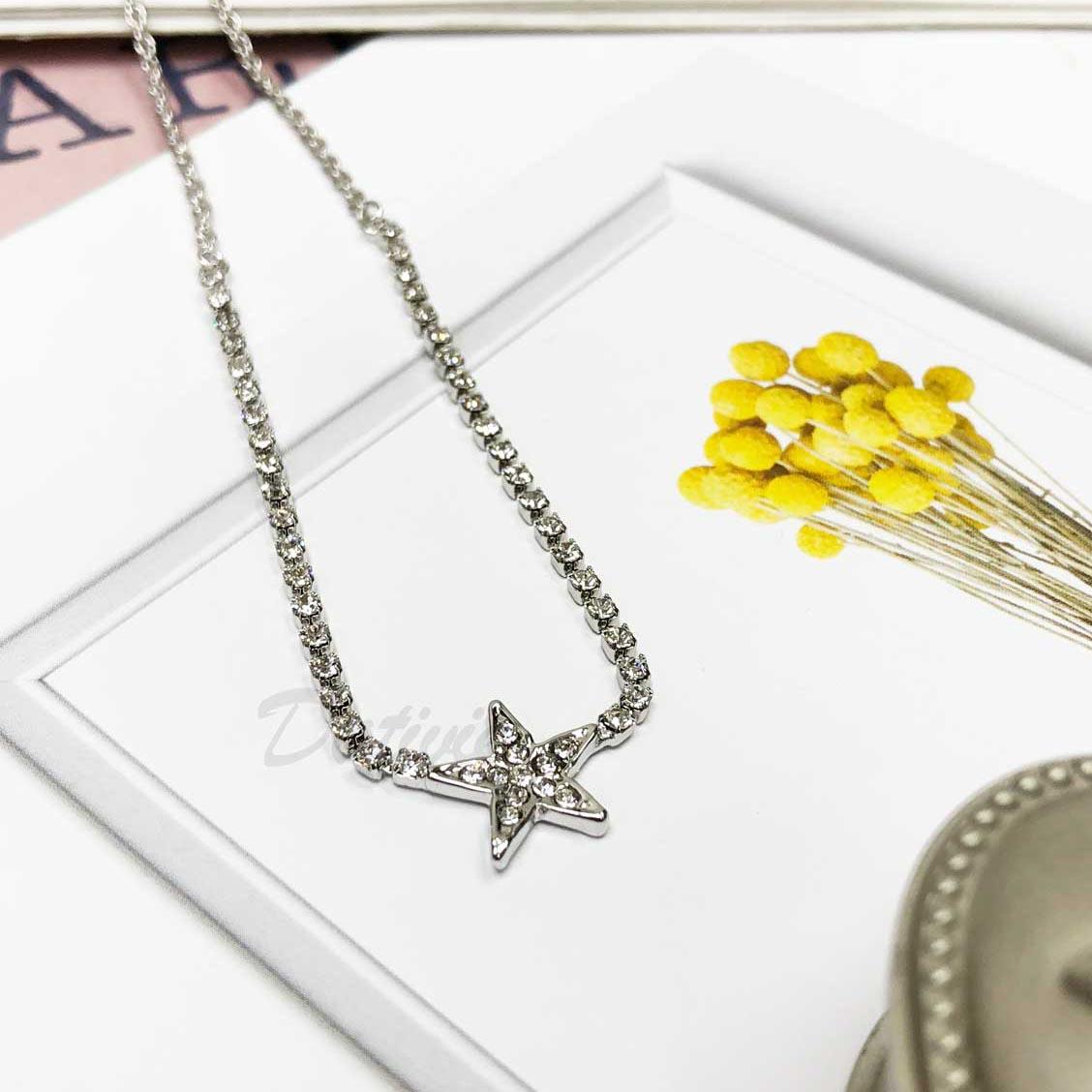 星星 鑲鑽 水鑽項鍊