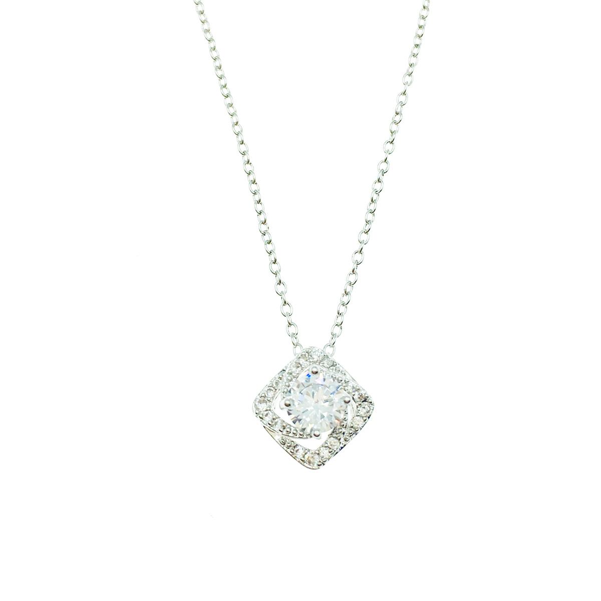 韓國 925純銀 立體方形幾何 俐落簡約質感 項鍊