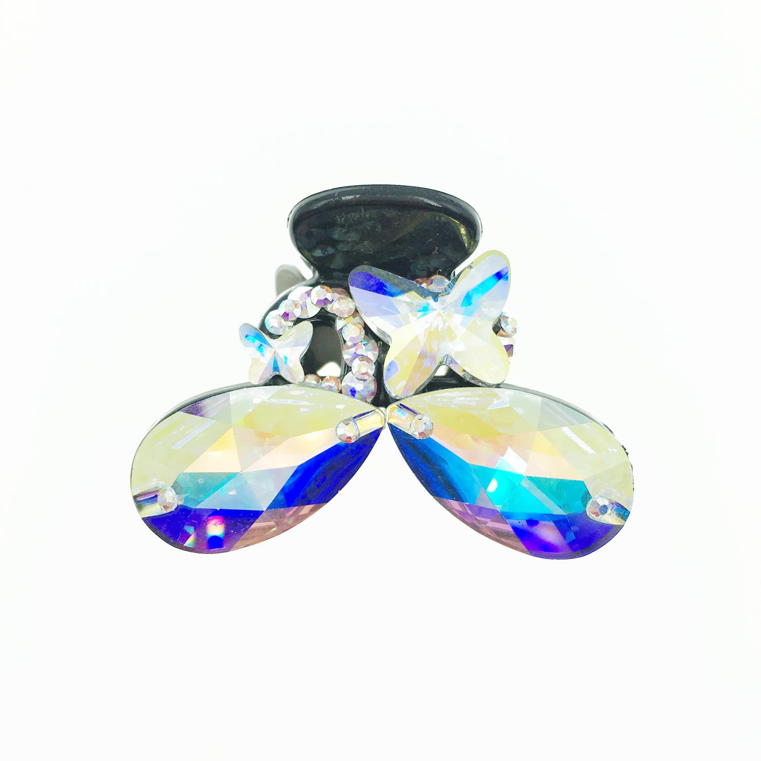 蝴蝶造型 水鑽 水晶 髮飾 髮夾 小鯊魚夾 法國夾 採用施華洛世奇水晶元素 Crystals from Swarovski