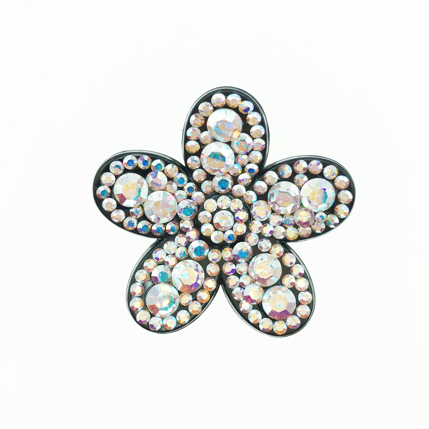 花造型 水鑽 水晶 髮飾 髮夾 法國夾 採用施華洛世奇水晶元素 Crystals from Swarovski