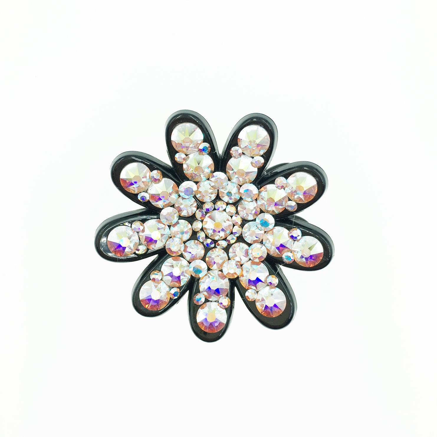 花造型 水鑽水晶 髮夾 小鯊魚夾 法國夾 採用施華洛世奇水晶元素 Crystals from Swarovski