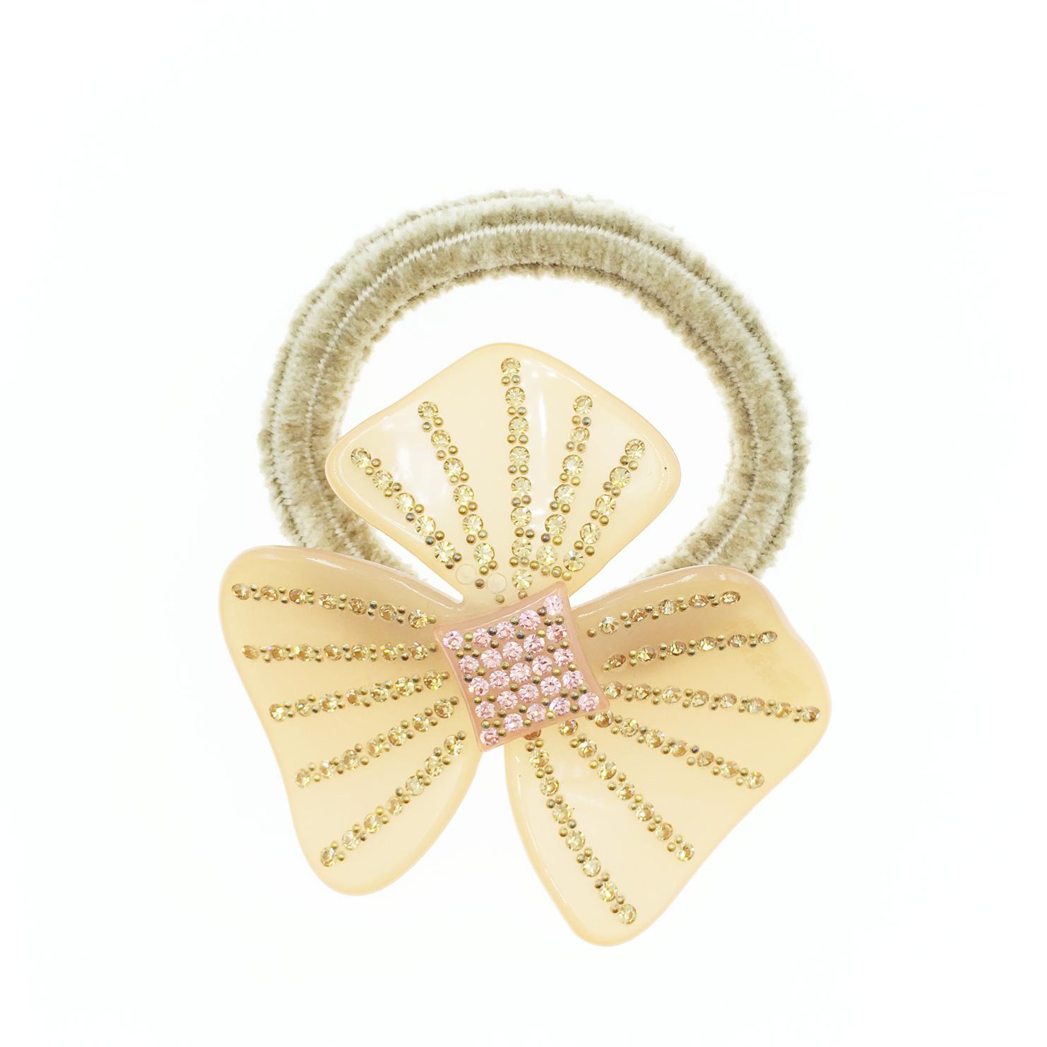 韓國 金色水鑽 水晶 花 髮飾 髮圈 採用施華洛世奇水晶元素 Crystals from Swarovski