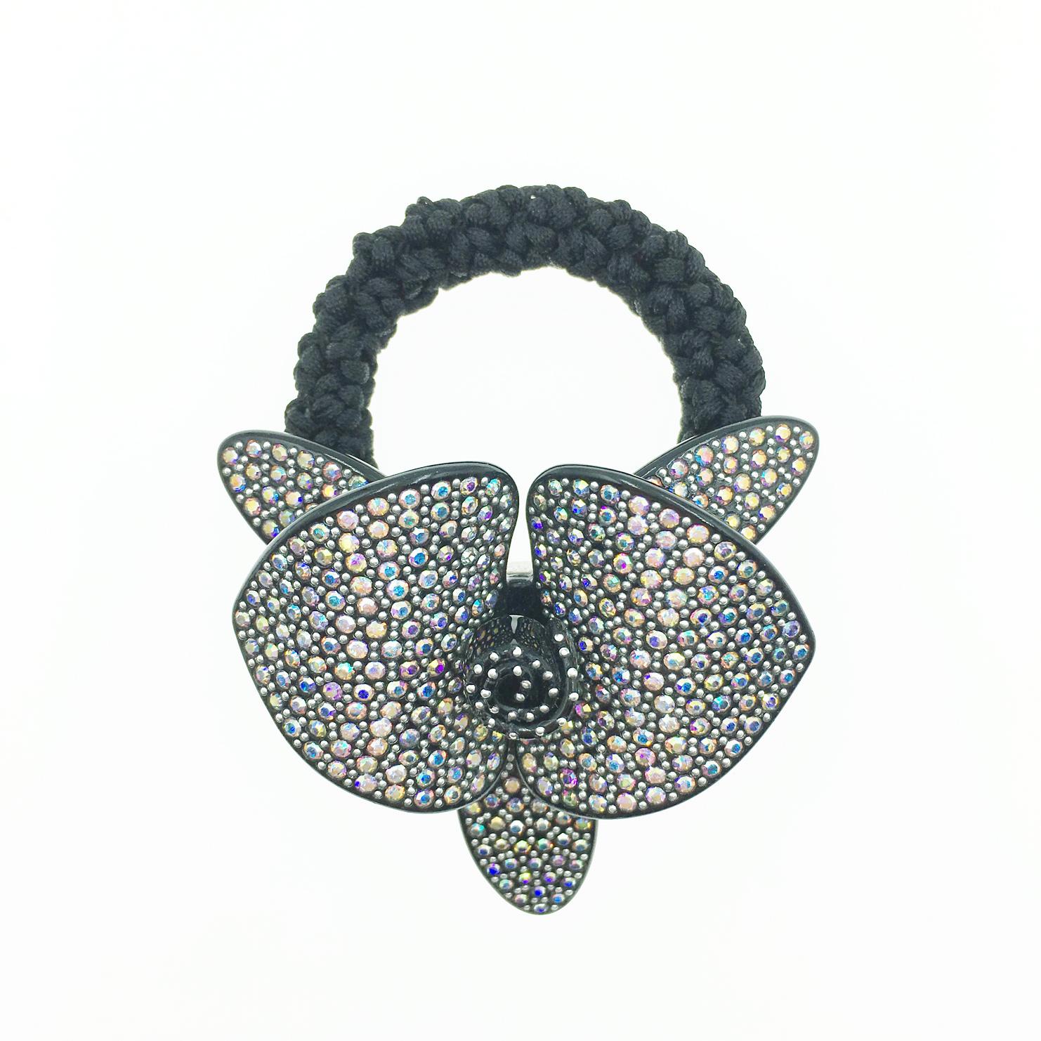 韓國 立體花 花蕊 水鑽水晶 髮飾 髮圈 採用施華洛世奇水晶元素 Crystals from Swarovski