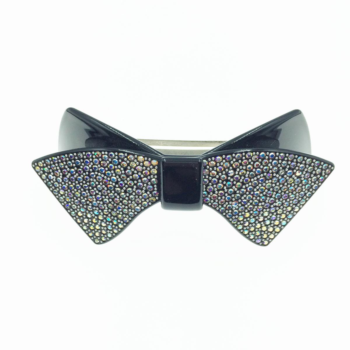 韓國 蝴蝶結 水鑽水晶 髮飾 髮夾 自動夾 採用施華洛世奇水晶元素 Crystals from Swarovski