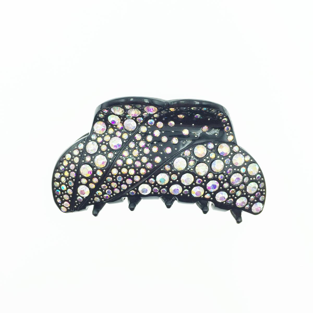 滿版 水鑽水晶 黑色 髮夾 鯊魚夾 法國夾 採用施華洛世奇水晶元素 Crystals from Swarovski