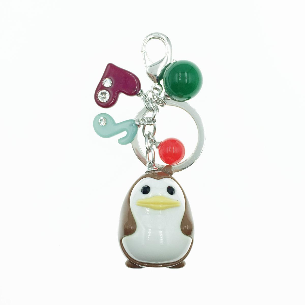 韓國 GRAIN DE BEAUTE (AZNAVOUR) 動物 企鵝 愛心 音符 水鑽 鑰匙圈