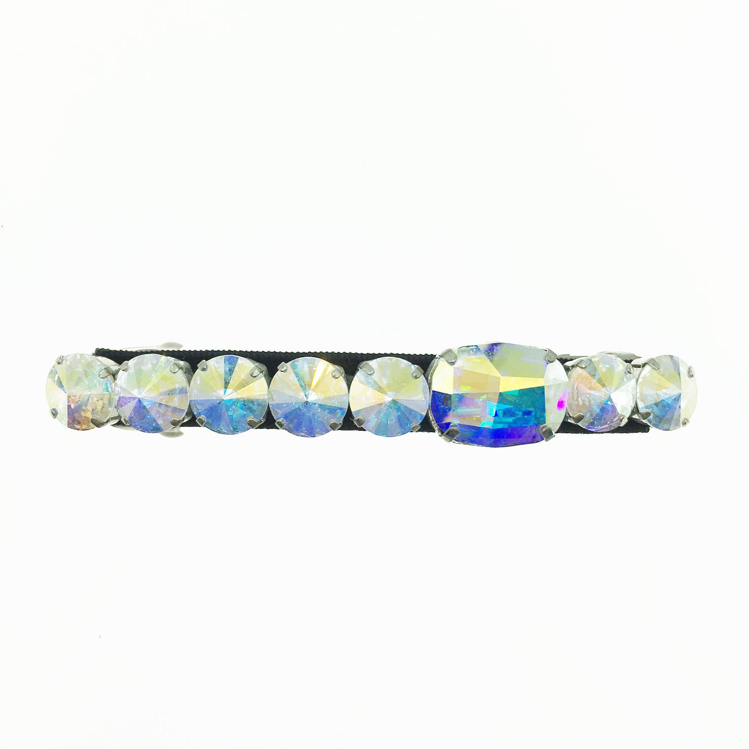 韓國 水鑽水晶 白鑽 基本百搭款 髮夾 自動夾 採用施華洛世奇水晶元素 Crystals from Swarovski
