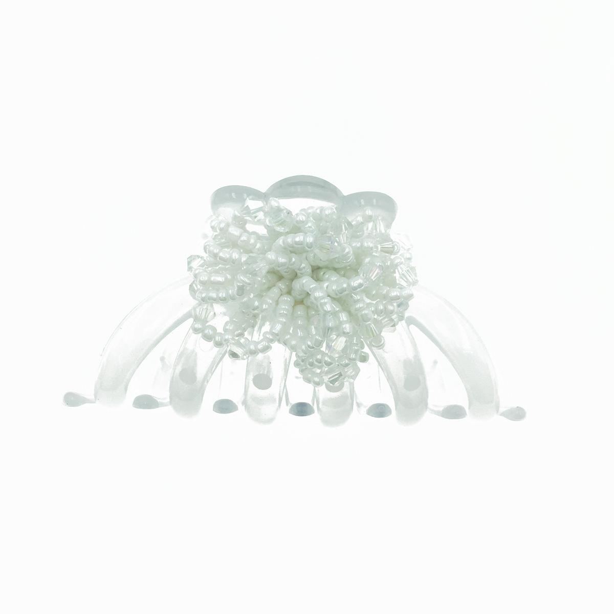 韓國 水晶 小珠珠設計 花 透明感 髮飾 鯊魚夾 髮夾