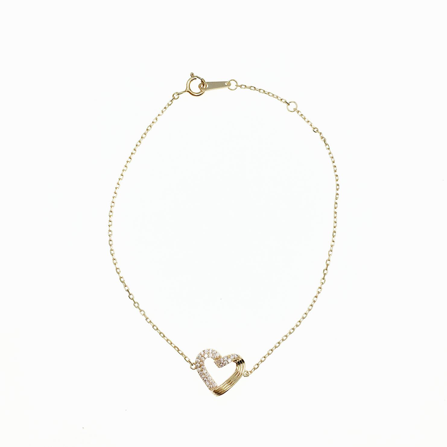 韓國 925純銀 愛心 多層線條 簍空 水鑽 玫瑰金 氣質款 手飾 手鍊