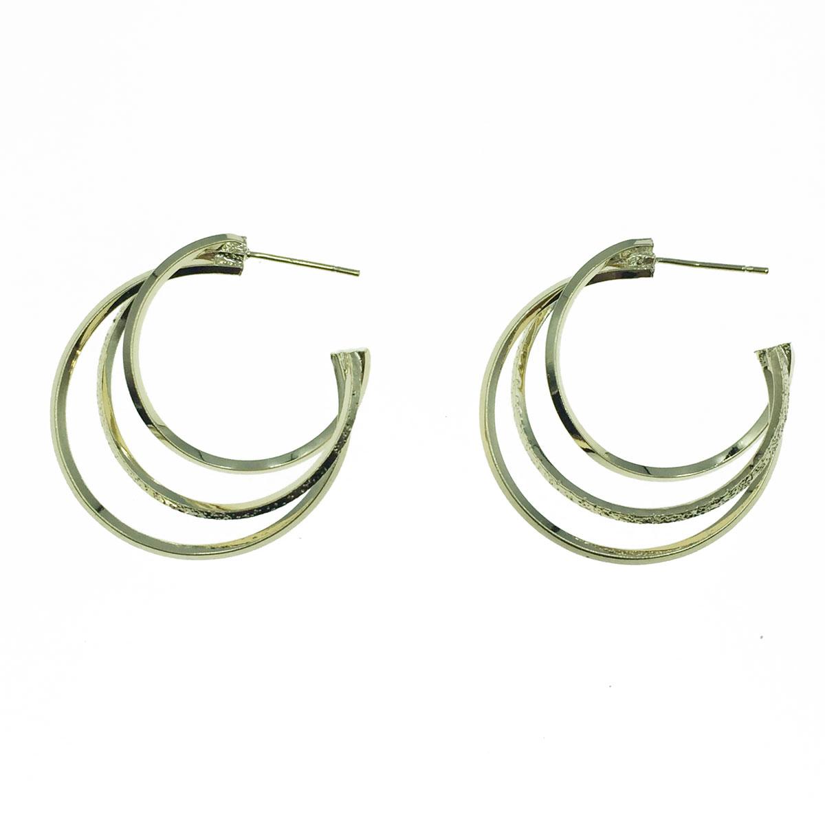 韓國 925純銀 不規則線條 C型 垂墜感 耳針式耳環