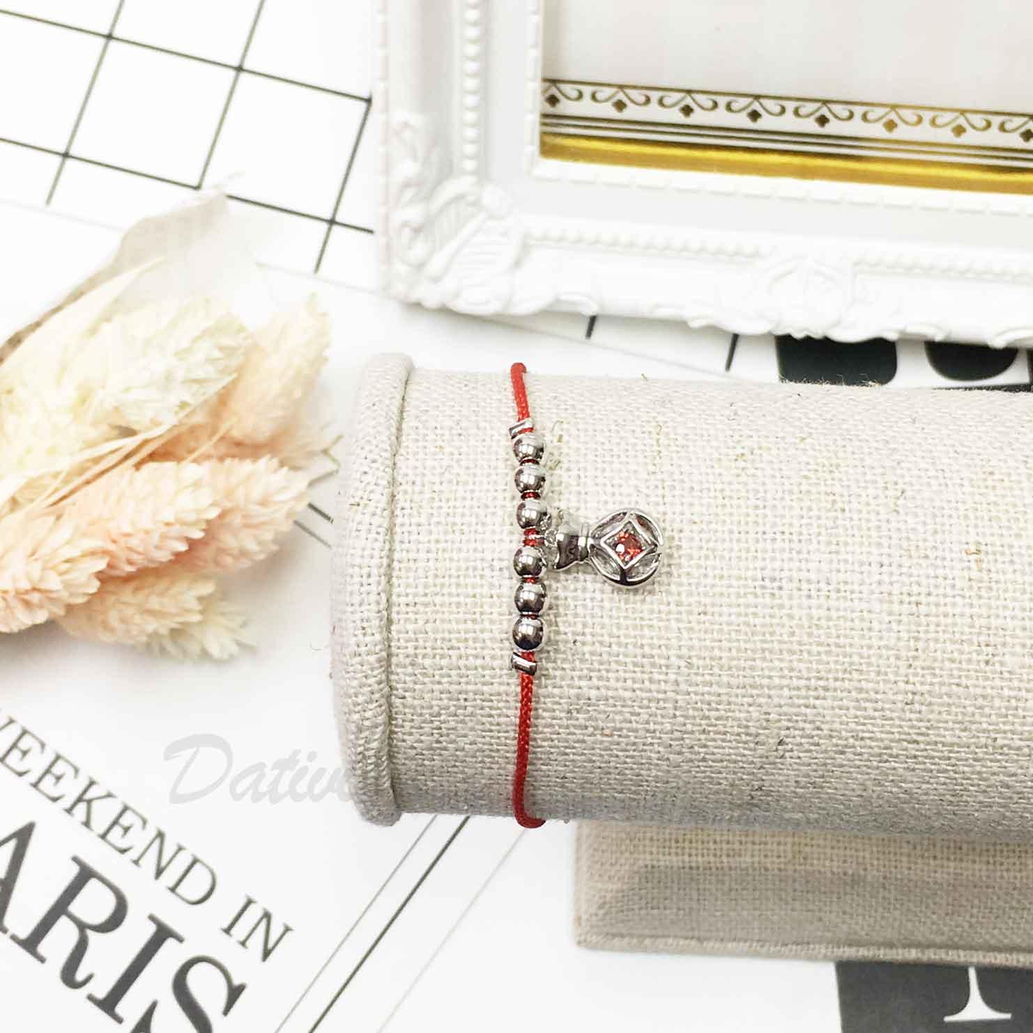 紅線 串珠 特色造型 皇冠 紅鑽 質感手鍊