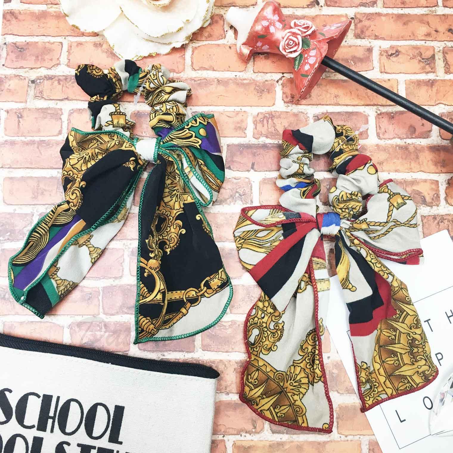 韓國 造型圖騰 OL風 水手風 鎖鏈 繽紛 個性 蝴蝶結髮圈
