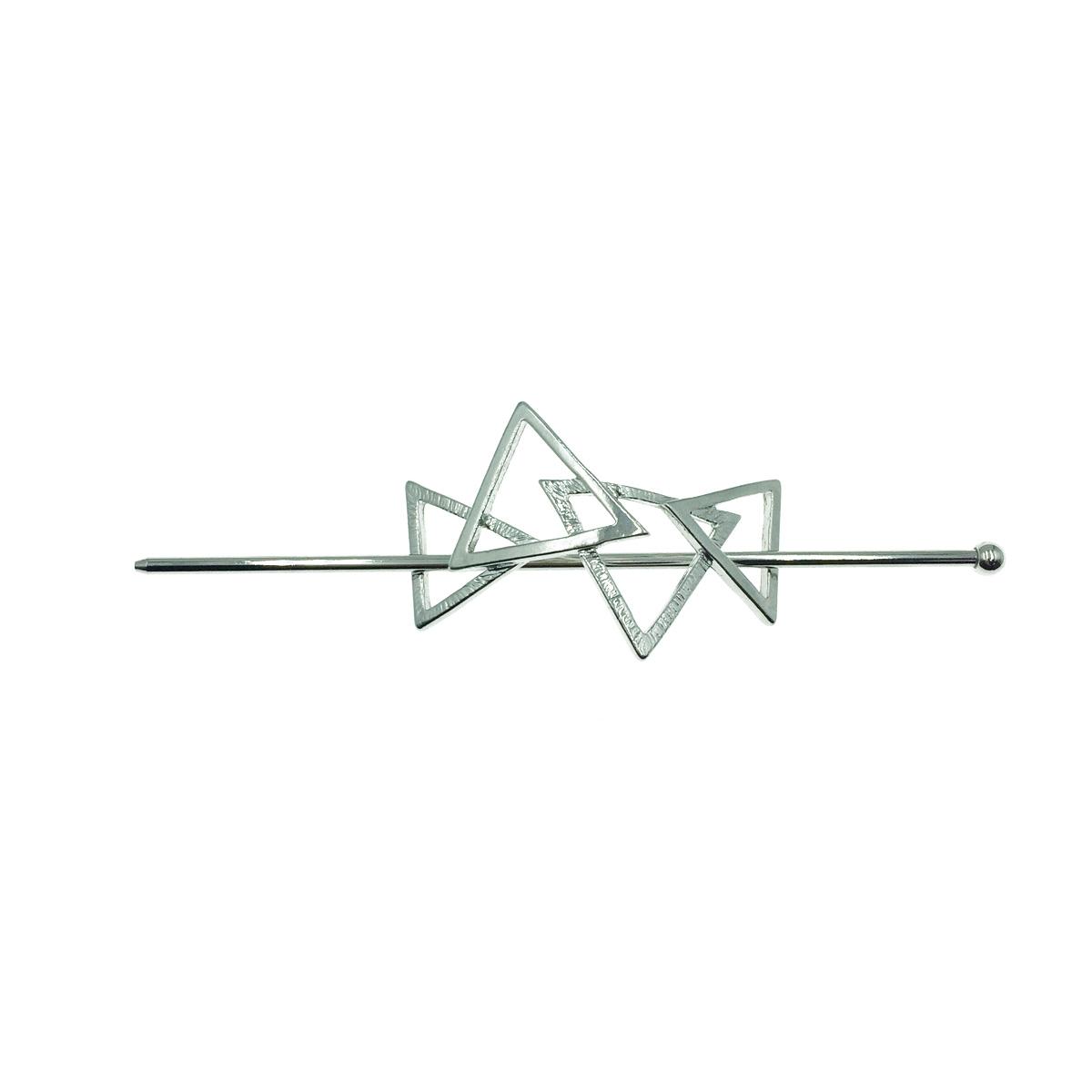 韓國 三角形 交疊 幾何 個性 質感 流行髮叉
