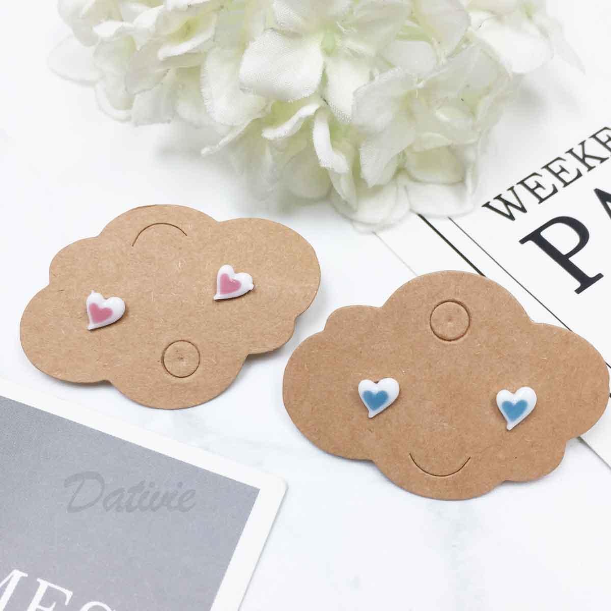 不鏽鋼 愛心 雙色愛心 甜美款 耳針式耳環