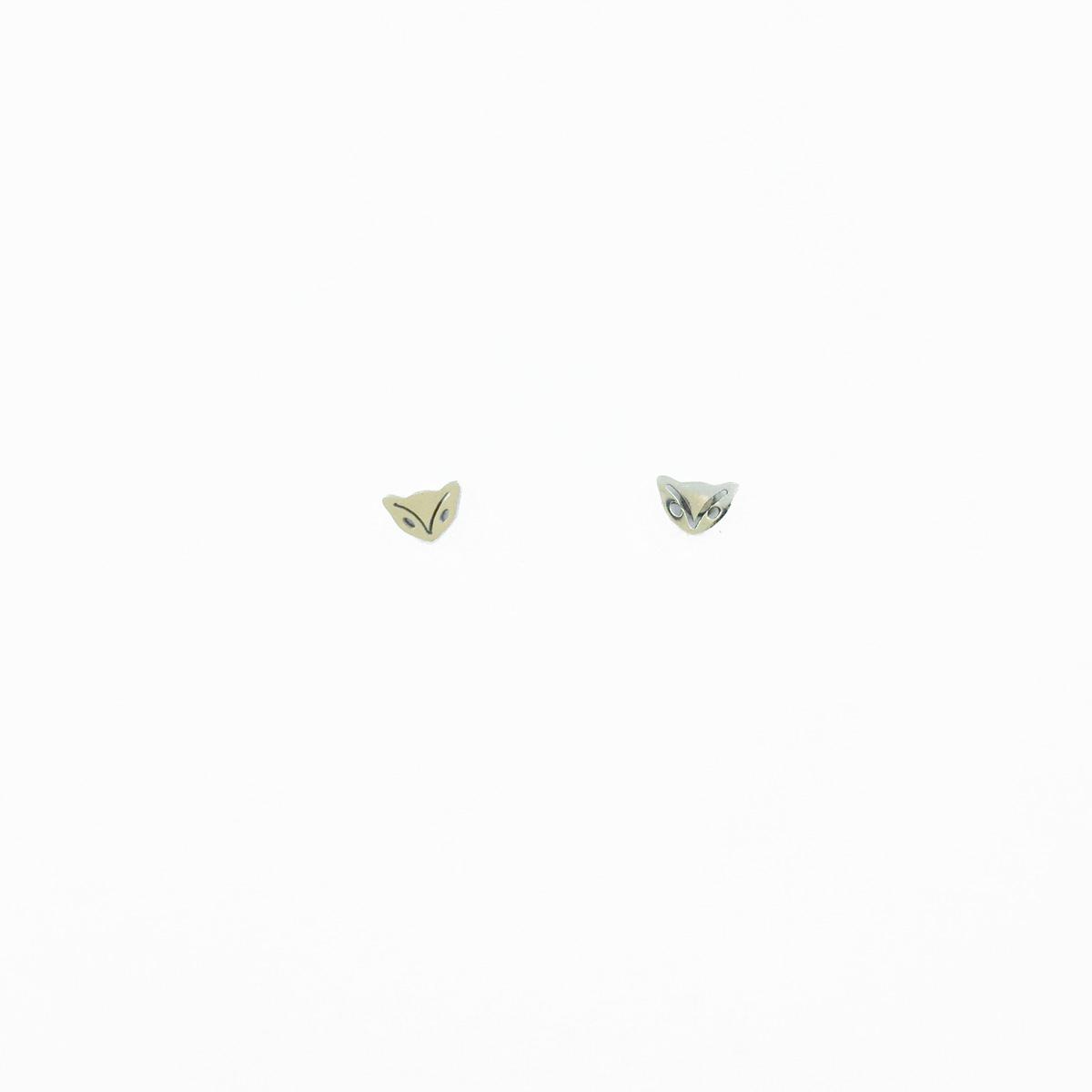 韓國 不鏽鋼 表情 動物 可愛清新款 銀色 後轉耳針式耳環