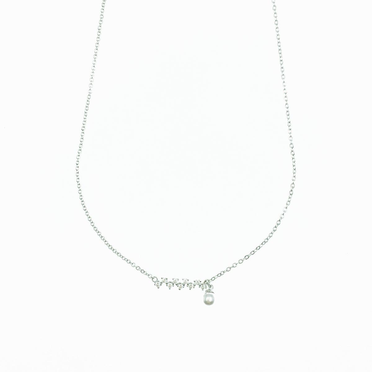 韓國 水鑽 珍珠 氣質甜美款 簡約 項鍊