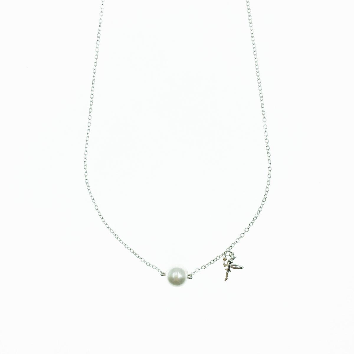 韓國 金屬造型 精靈 珍珠 甜美百搭 項鍊