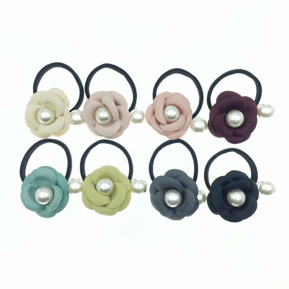 韓國 小香風 山茶多 珍珠 8色 素色百搭 基本款 髮飾 髮束