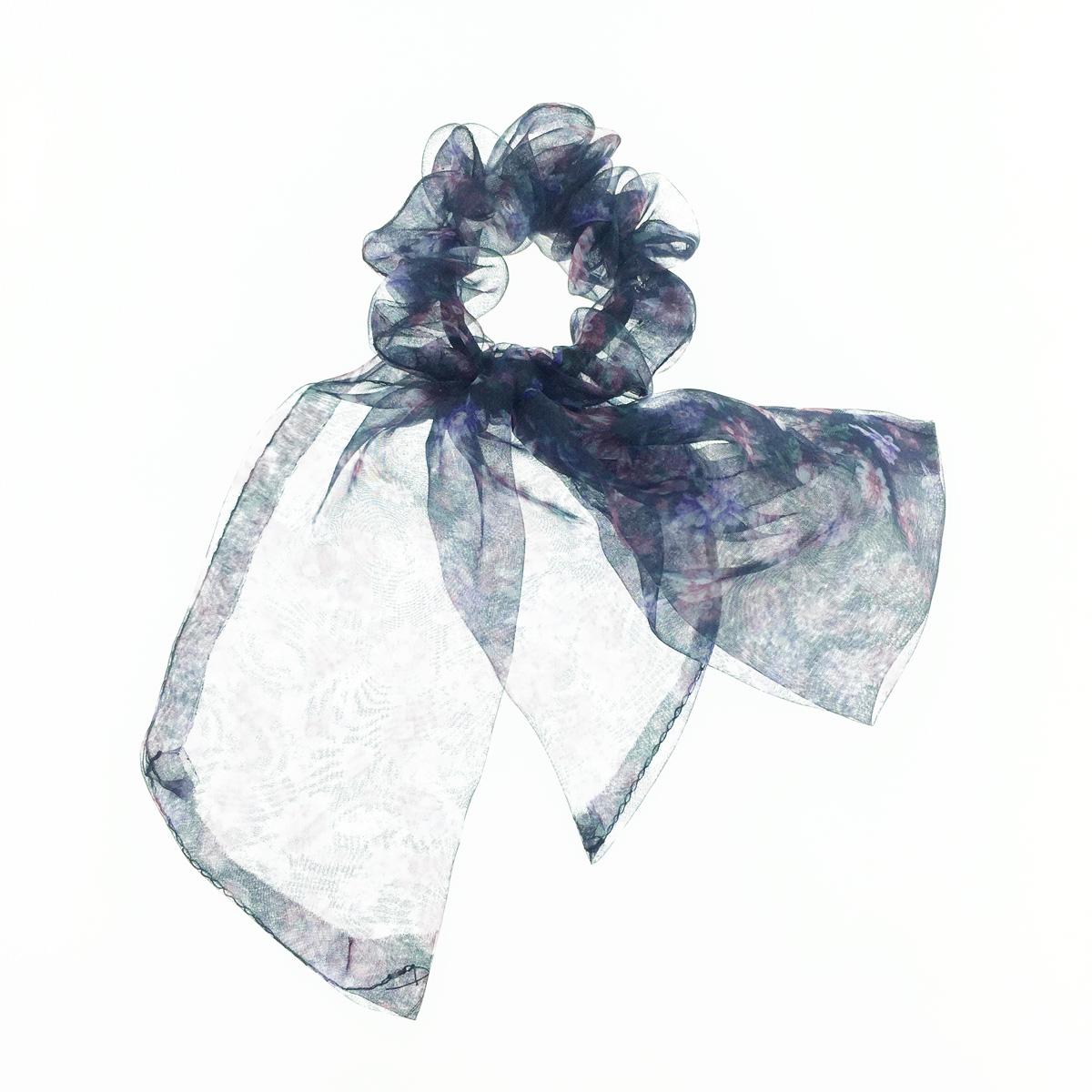 韓國 小碎花 暈染 蝴蝶結 透紗 髮飾 髮圈 大腸圈
