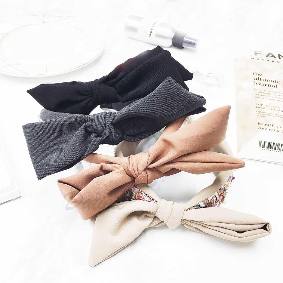 韓國 蝴蝶結 彩色編織 髮飾 髮圈 髮箍