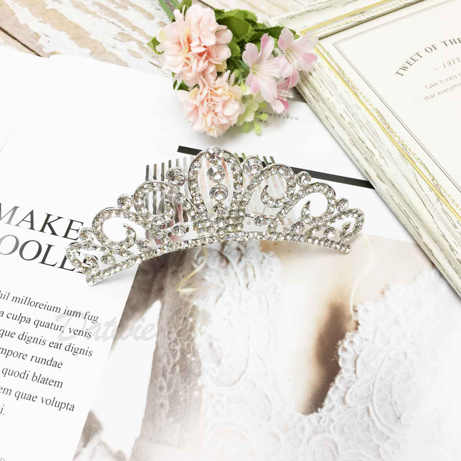 皇冠 水鑽 立冠 新娘飾品 新娘頭飾 髮插