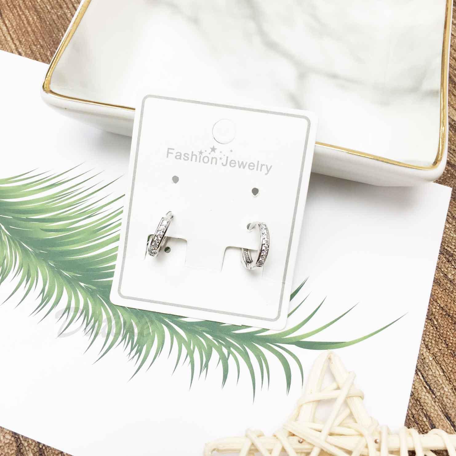 水鑽 刻紋 爪鑽 基本百搭款 耳針式耳環