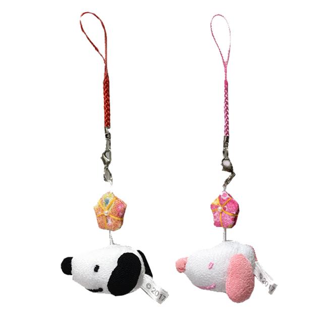 吊飾 日本 SNOOPY 史努比 和風吊飾 五角星 粉 黑 正版日本進口