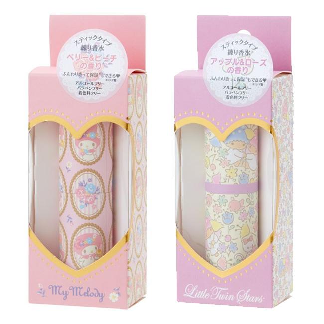 香水膏 日本 三麗鷗 美樂蒂 雙子星 保濕 芳香 攜帶式 蜜桃莓果味 蘋果玫瑰味 日本正版進口授權
