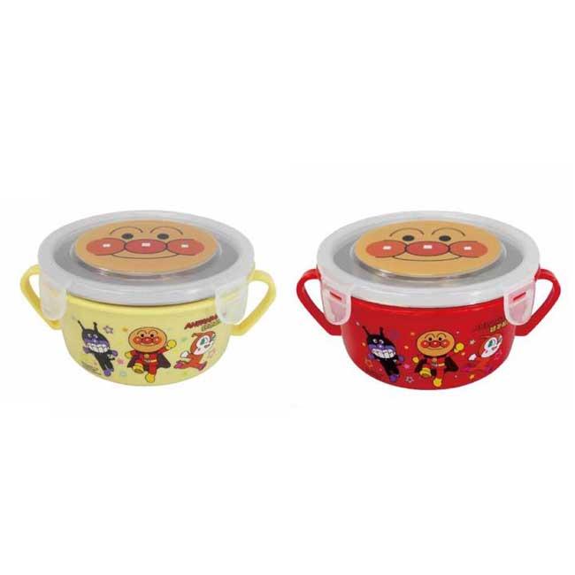 雙耳碗 麵包超人 不銹鋼碗 隔熱碗 兒童碗 把手 餐碗 餐具 450ml 正版授權