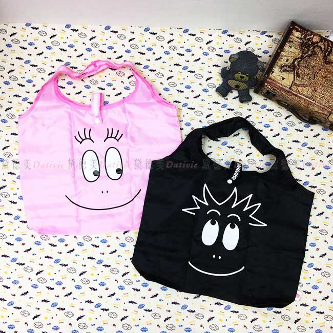 購物袋 泡泡先生 BARBAPAPA 收納袋 輕巧 攜帶 可摺疊收納 正版授權