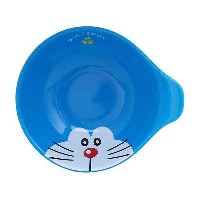 碗 哆啦A夢 大臉 鈴鐺 藍 扶把 餐具 正版日本製造進口