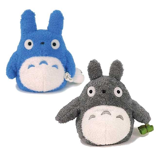 絨毛娃娃 龍貓 包裹 行囊  宮崎駿 灰 藍 TOTORO 填充玩偶 正版日本進口