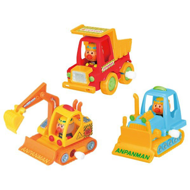 玩具 麵包超人 發條 工程 卡車 挖土機 推土機 造型 玩具車 正版日本進口授權 (隨機出貨不挑款)