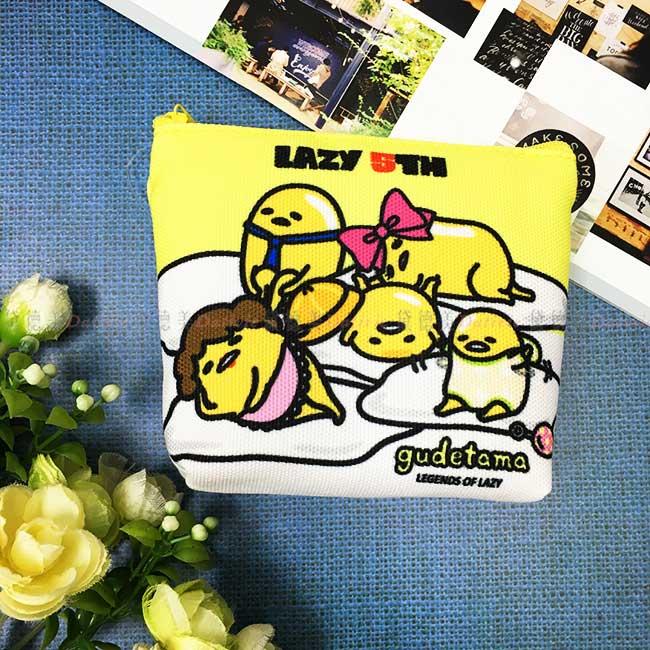零錢包 三麗鷗 蛋黃哥 方形收納袋 小包 隨身攜帶 正版授權