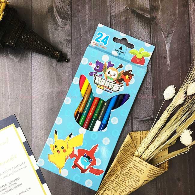 24色鉛筆 寶可夢 pokemon 彩色鉛筆 24色 繪畫 塗鴉 正版授權