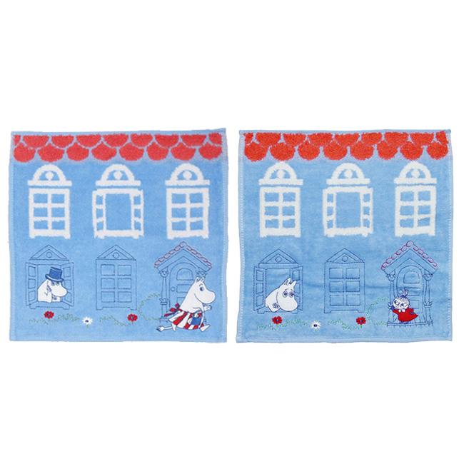 方巾 嚕嚕米 小不點 房屋 刺繡 方型 毛巾 正版日本進口授權