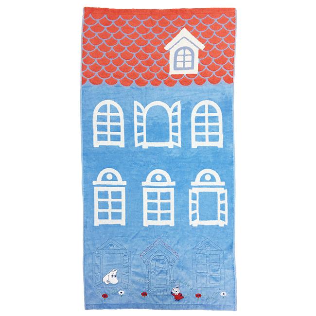 浴巾 嚕嚕米 小不點 房屋 造型 刺繡 毛巾 正版日本進口授權