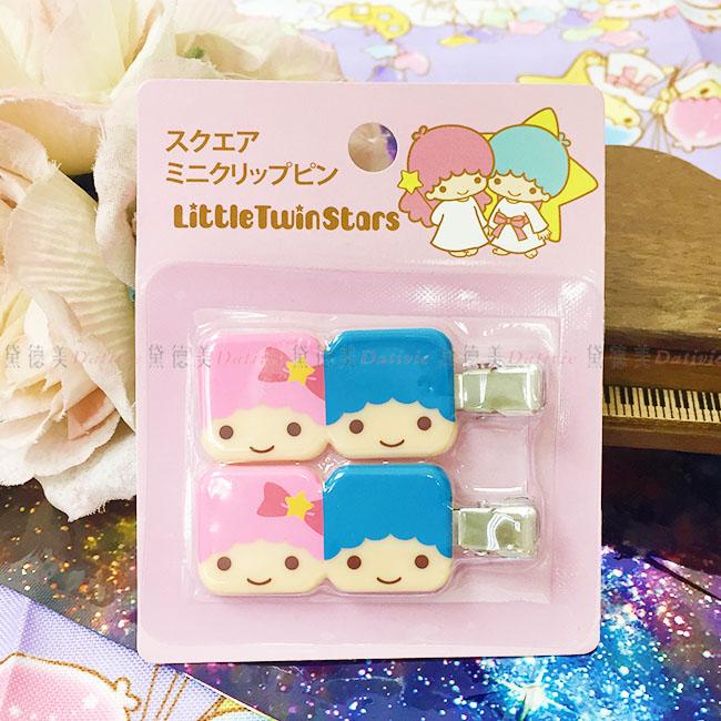 髮夾 三麗鷗 雙子星 方型 大臉 兒童 髮飾 正版日本進口授權