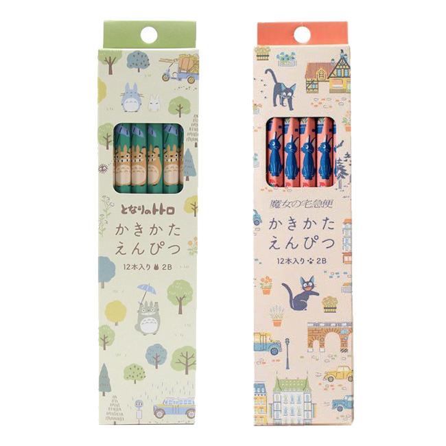 鉛筆 日本 宮崎駿 龍貓 魔女宅急便 滿版 森林 克里克 質感 六角 2B 文具 12入 正版日本進口授權