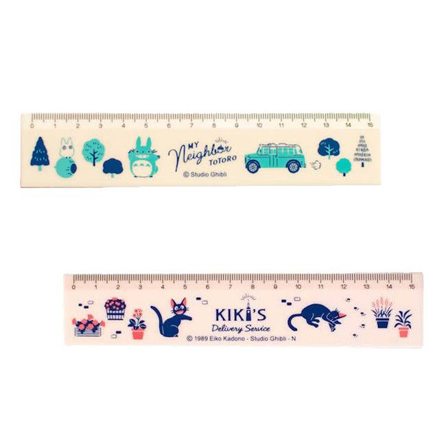 直尺 日本 宮崎駿 龍貓 魔女宅急便 森林 克里克 散步 測量 文具 15cm 正版日本進口授權