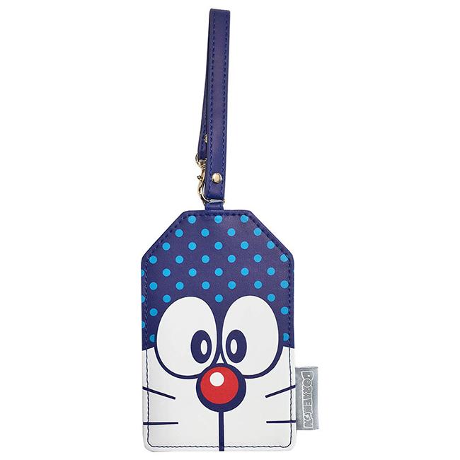 行李吊牌 哆啦A夢 大臉 點點 角型 掛牌 票卡夾 正版日本進口授權