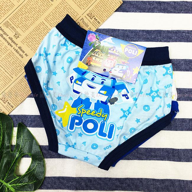 內褲 波力 POLI 純棉 兒童 男童 內褲 星星 滿版 淺藍 白色 2入 SS-XL