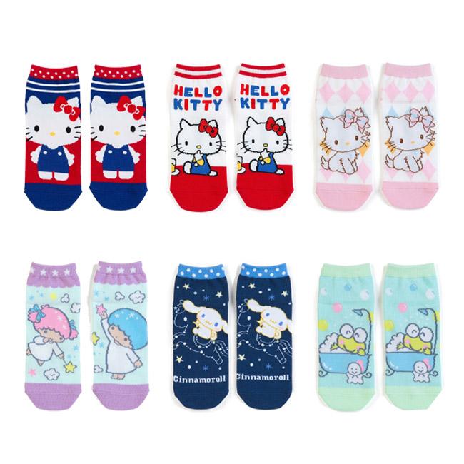 襪子 韓國 三麗鷗 Hello Kitty 恰咪 雙子星 大耳狗 大眼蛙 23-25cm 短襪 直版襪 正版日本進口授權