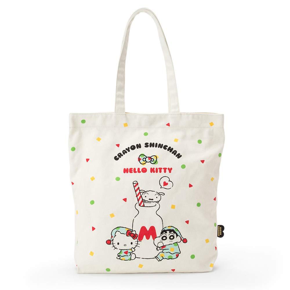 提袋 Hello Kitty 蠟筆小新 聯名 牛奶瓶 圖型 方型 手提 袋子 正版日本進口授權