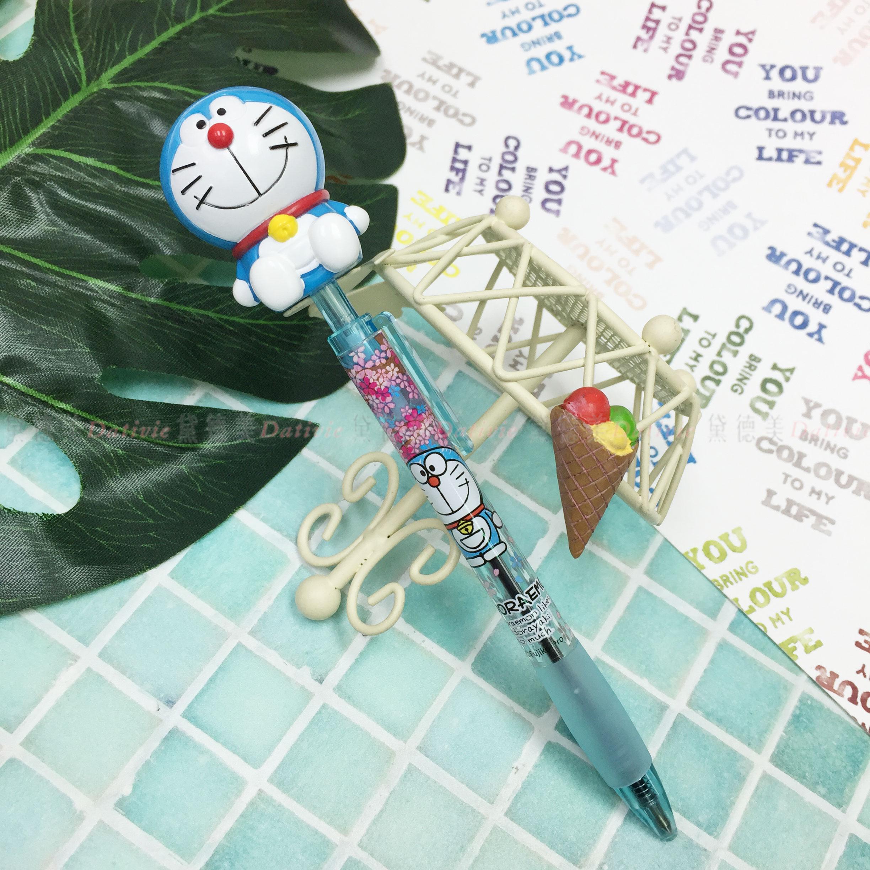 黑原子筆 日本 三麗鷗 哆啦A夢 按壓式 造型原子筆 日本進口正版授權