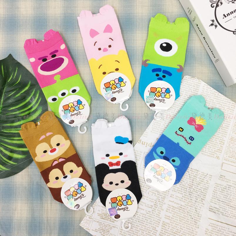 襪子 TSUMTSUM系列 維尼  迪士尼  造型 直版襪 小耳朵 成人卡通襪 22~26CM 六款選  正版授權