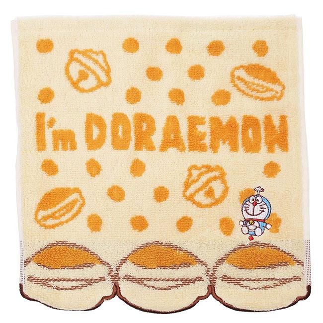 方巾 迪士尼 多拉A夢 銅鑼燒 並排 點點 純棉 正版日本進口授權