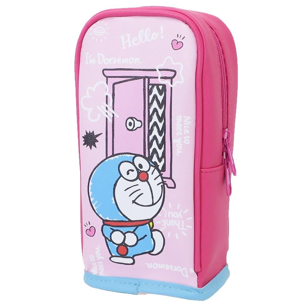 筆袋 迪士尼 哆啦a夢 任意門 皮質 直立式筆袋 站立 文具 收納 鉛筆盒 正版日本進口授權