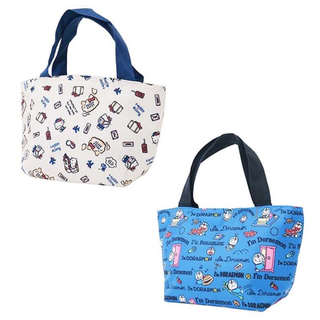 提袋 三麗鷗 HELLO KITTY 哆啦a夢 小 滿版 保溫 保冷 餐袋 手提袋 正版日本進口授權