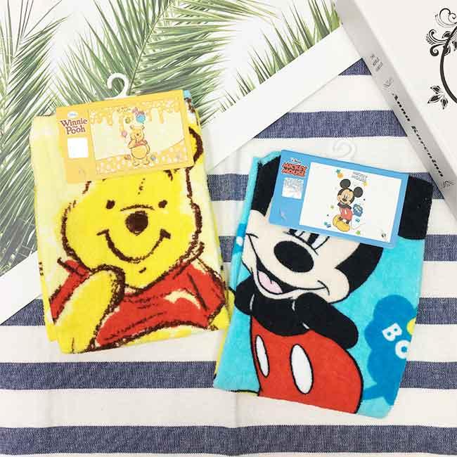 迪士尼 米奇 小熊維尼 童巾 毛巾 兩款選 正版授權
